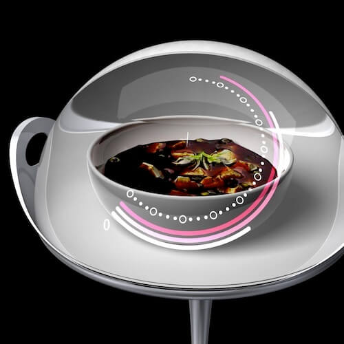 Futuristic Microwave Oven Concept Inspired by a Dome Tray