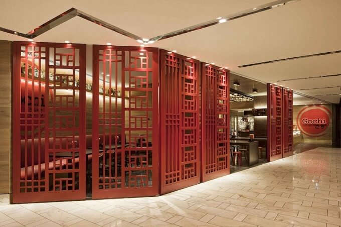Modern take on a traditional japanese style restaurant