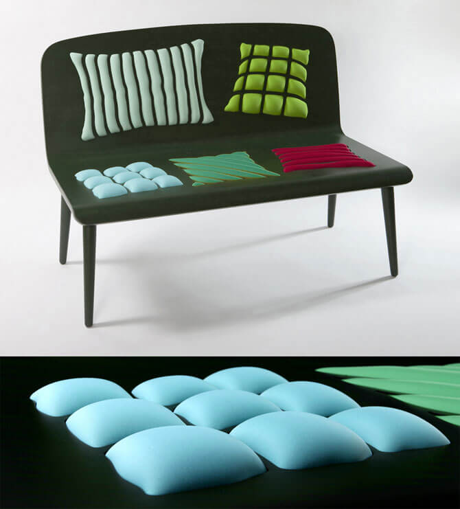 Poppins bench Furniture Designs Playing With Perceptions by Alessandra Baldereschi