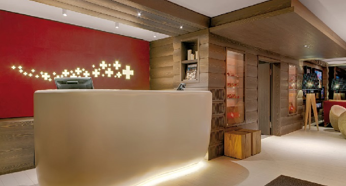Reception design New Contemporary Look for Agora Swiss Night Hotel