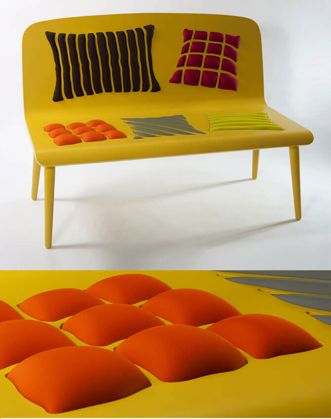 Yellow bench design Furniture Designs Playing With Perceptions by Alessandra Baldereschi