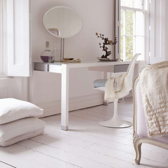 5 contemporary white dressing tables to get ready for your for Bedroom dressing table