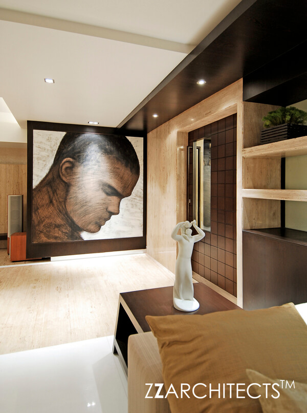 Luxurious Interiors And Indian Contemporary Art In A Triplex Apartment Mumbai By Designer