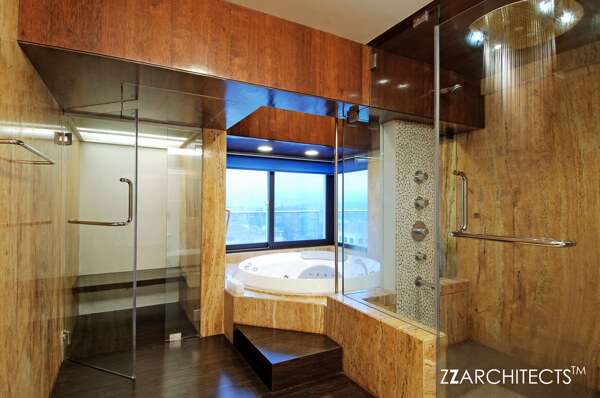 Luxurious interiors and indian contemporary art in a for Bathroom designs mumbai