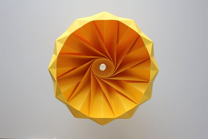 Beautiful Origami Lampshade for Paper Lovers -Chestnut by Studio Snowpuppe