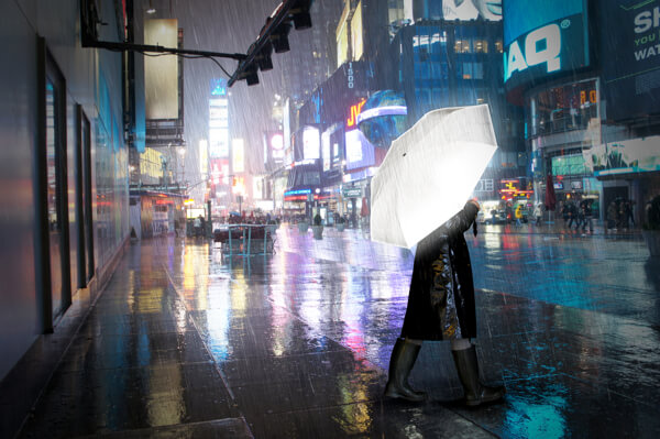 Get Noticed at Night with Cool Hi-Reflective Umbrella