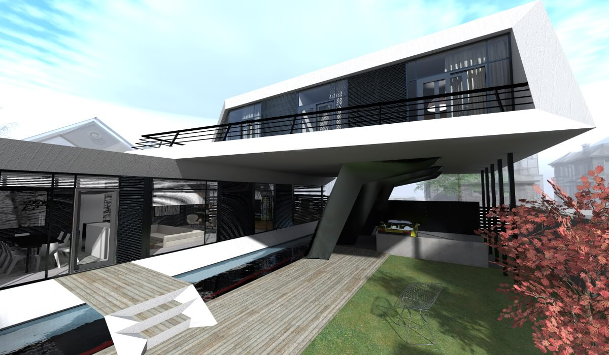 Is house a futuristic modern concept designed by steep for Modern house design concepts