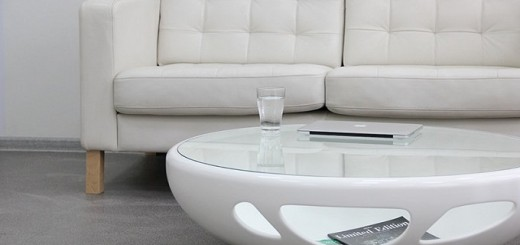 White-living-room-table