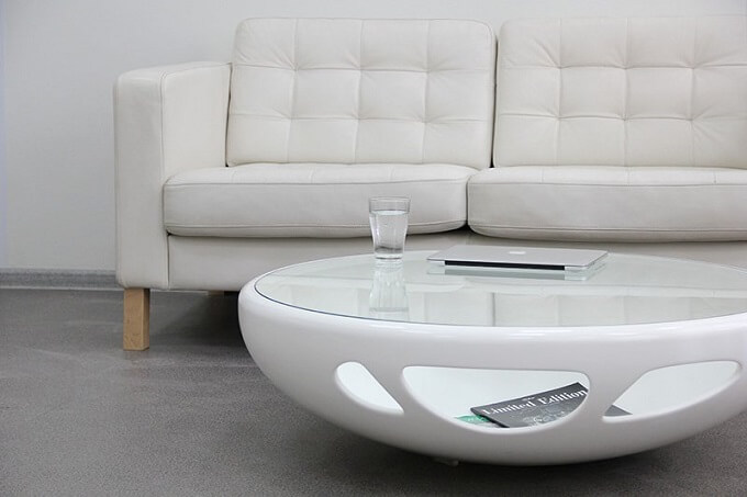 White Living Room Table