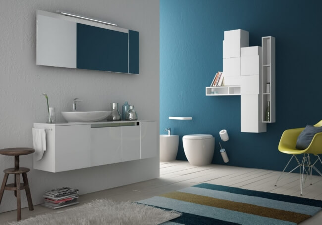 Bathroom collection by Meneghello Paolelli Play with the Unique Bathroom Furniture Set from ArtCeram