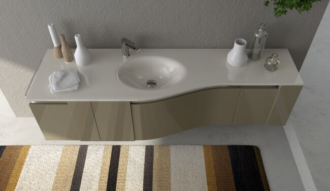 Bathroom washbasin with cabinets Play with the Unique Bathroom Furniture Set from ArtCeram