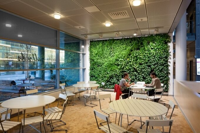 Places for socializing Future Learning Environments for Karolinska Institute in Sweden