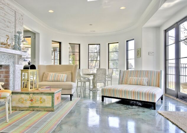 Decorative Concrete Floors For Homes : Steps for staining your concrete floor interior design