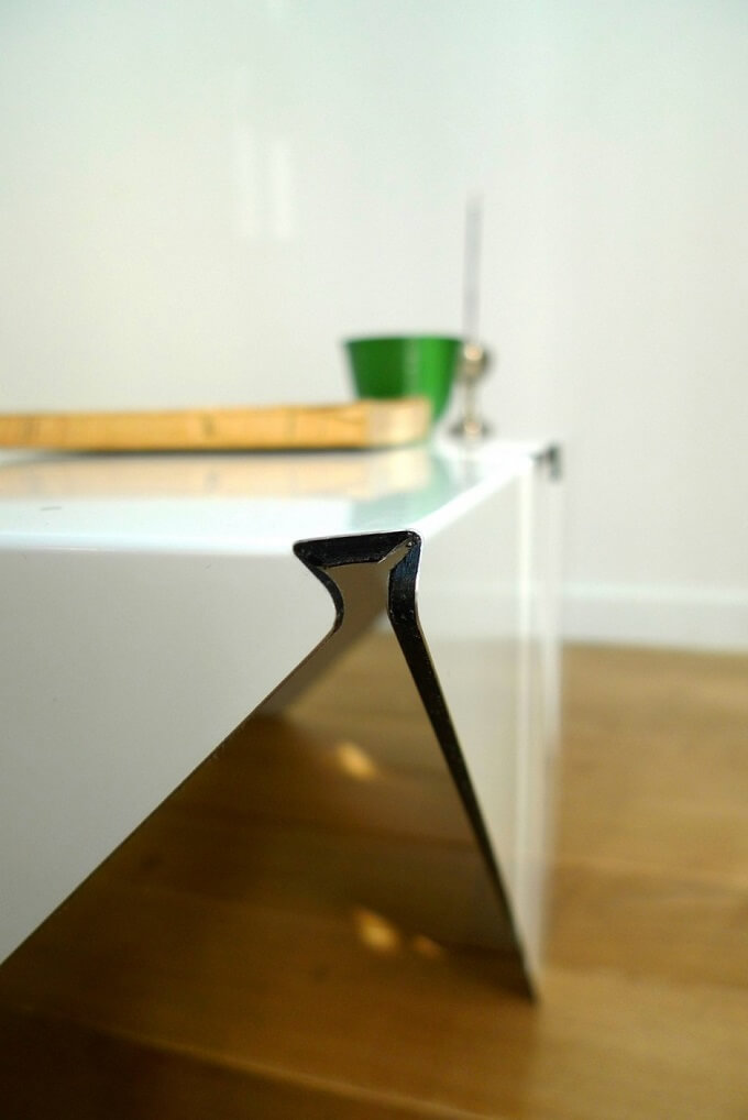 White table design 01 Minimalist White Coffee Table by Jules Barrès and Pierre Guillou