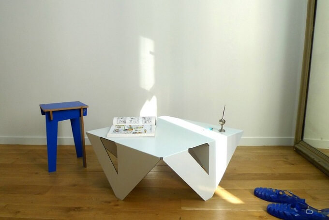 White table design Minimalist White Coffee Table by Jules Barrès and Pierre Guillou