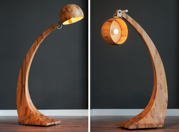 Wooden Floor Lamp With Unique Design From Abadoc