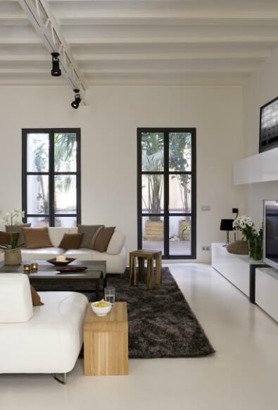 Living room details Contemporary Apartment Renovation in the Gothic Quarter, Barcelona