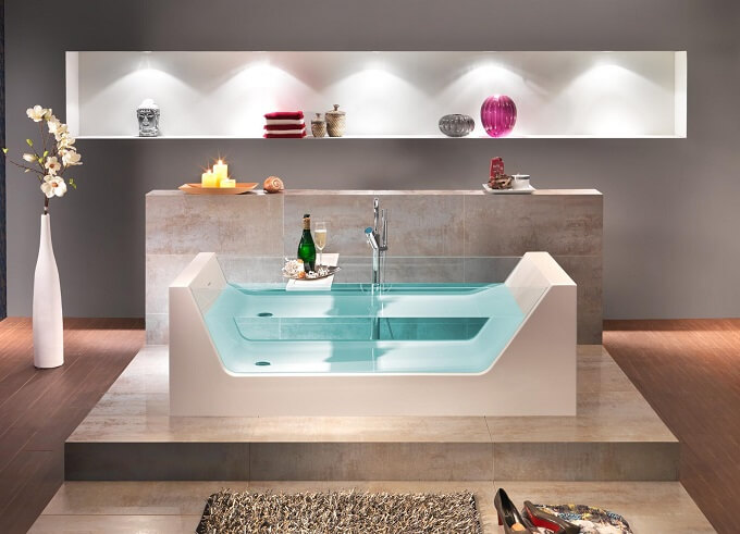 Outstanding Bathtub Design for an Inevitable Relaxing Bath Experience