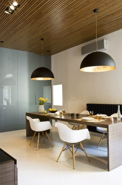 Modern dining table Contemporary Apartment Renovation in the Gothic Quarter, Barcelona