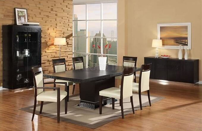 Contemporary table for dining room How to Spruce Up Your Dining Room