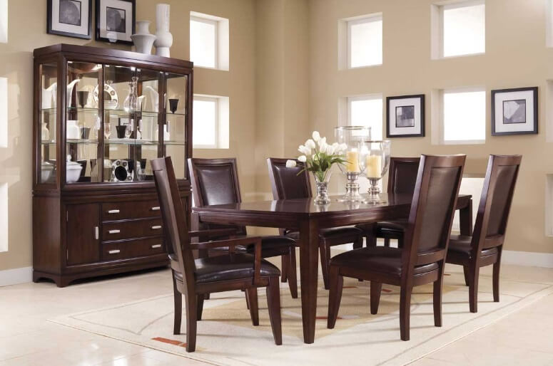 Dining room wood How to Use Wooden Furniture in Modern Interiors