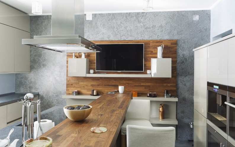 Modern kitchen How to Use Wooden Furniture in Modern Interiors