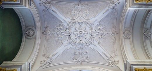 ornate white decorative plaster