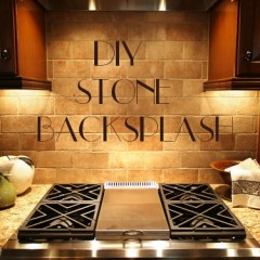 DIY Stone Backsplash