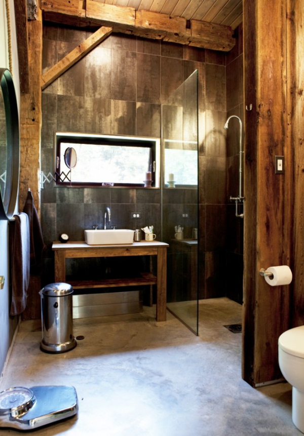 Rustic industrial bathrooms interior design design news for Bathroom ideas rustic modern