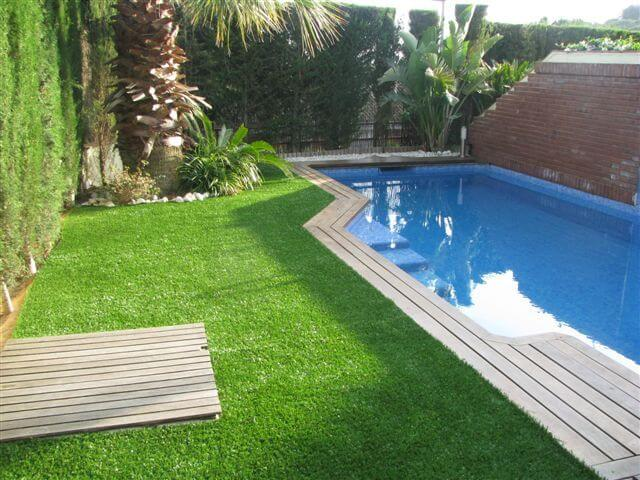 Advantages of an artificial turf interior design design for Garden pool care