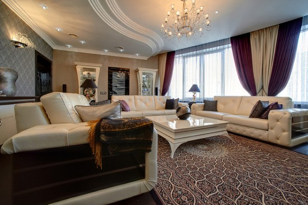 ... Curtain Designs 2 600x399 Latest Curtain Designs To Give Your Living  Room A New Look
