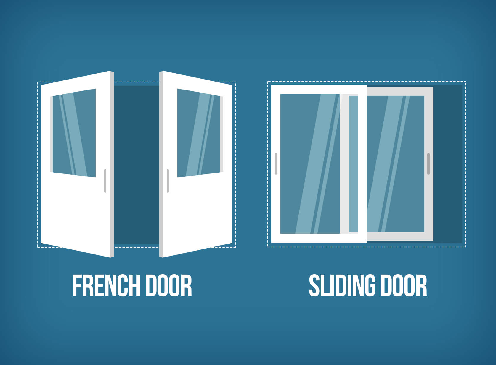 Sliding vs french patio doors what to choose interior for Sliding glass door to french door