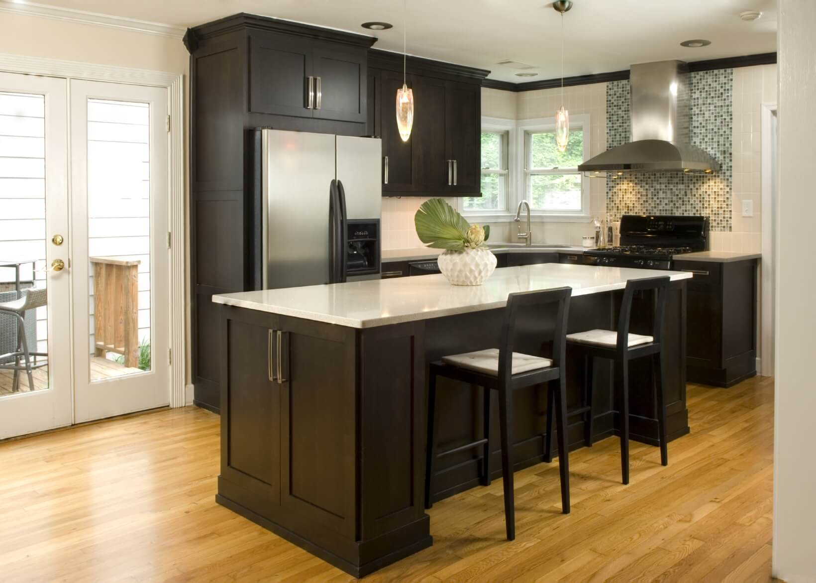 Dark Hardwood Floors In Kitchen Kitchens With Dark Wood Cabniets And Hardwood Floors Magnificent