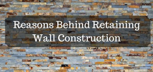 Reasons Behind Retaining Wall Construction