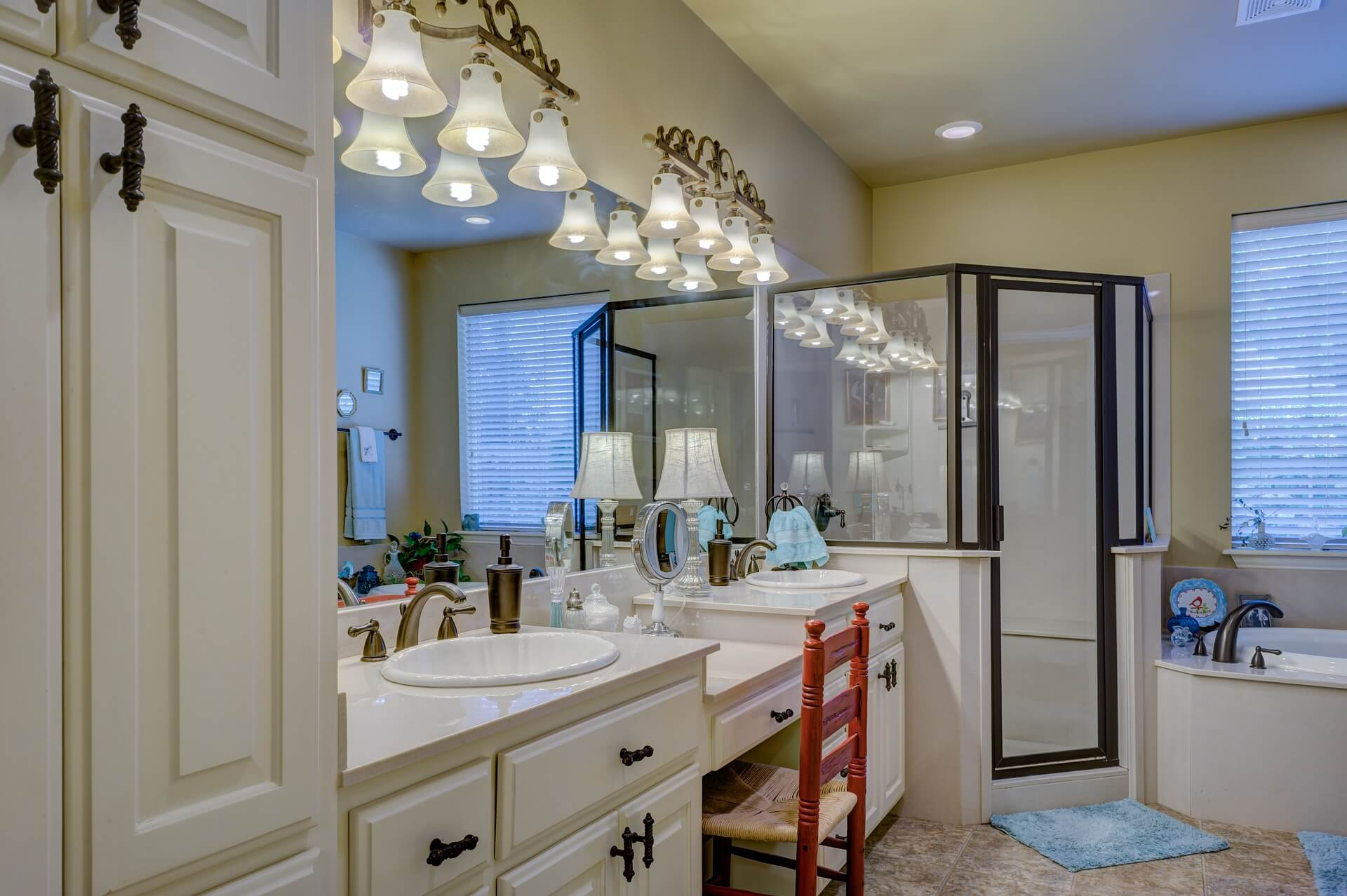 Fancy You can use different mild lights or just one depends on your choice A mild light over your shower enclosures can have a soothing effect on your mind