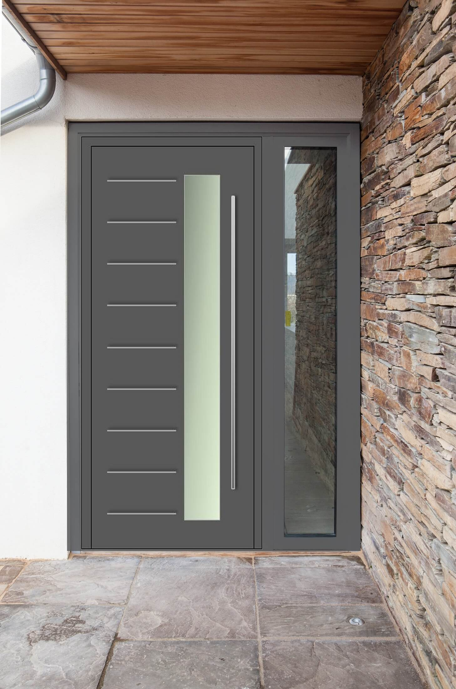 5 advantages of owning an aluminium front door interior for Front door glass panels
